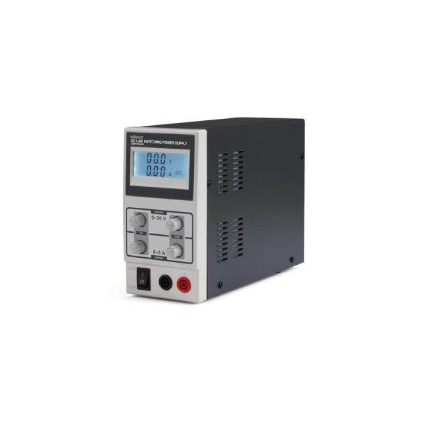 Laboratorie strømforsyning - 0-30V / 0-3A m. LCD display